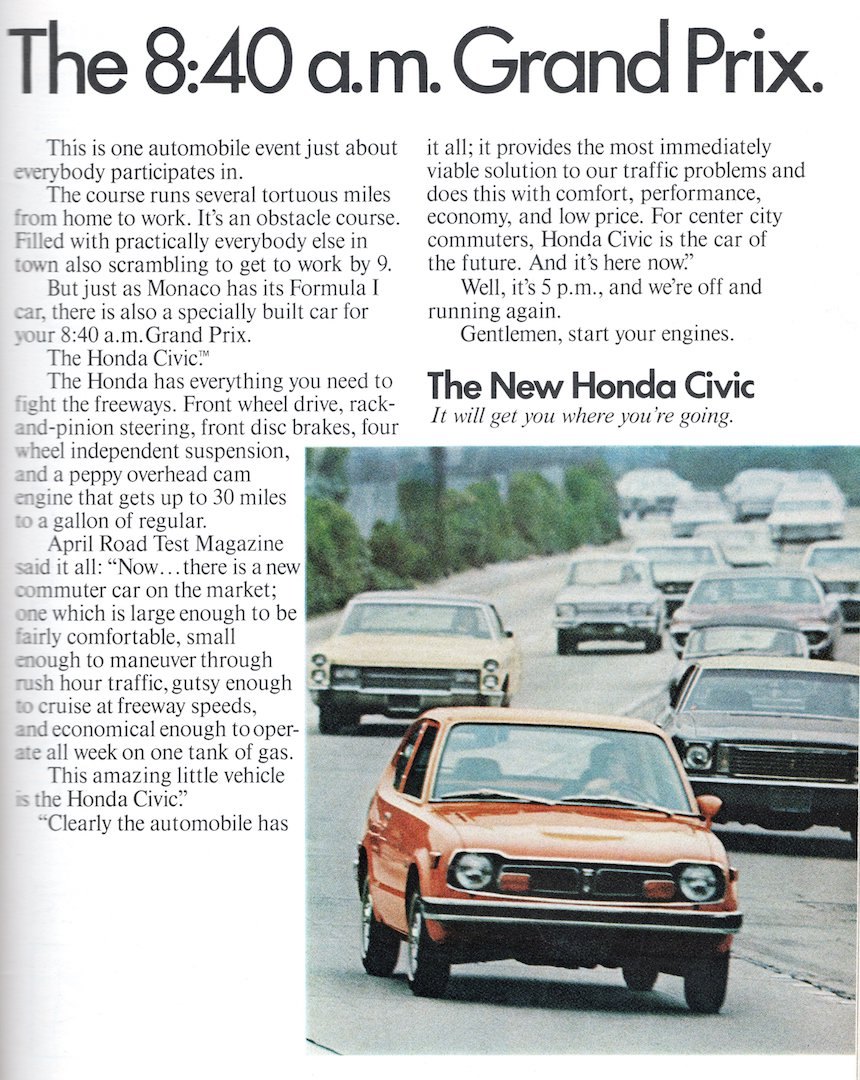 Honda Civic - 840 am Grand Prix 1973