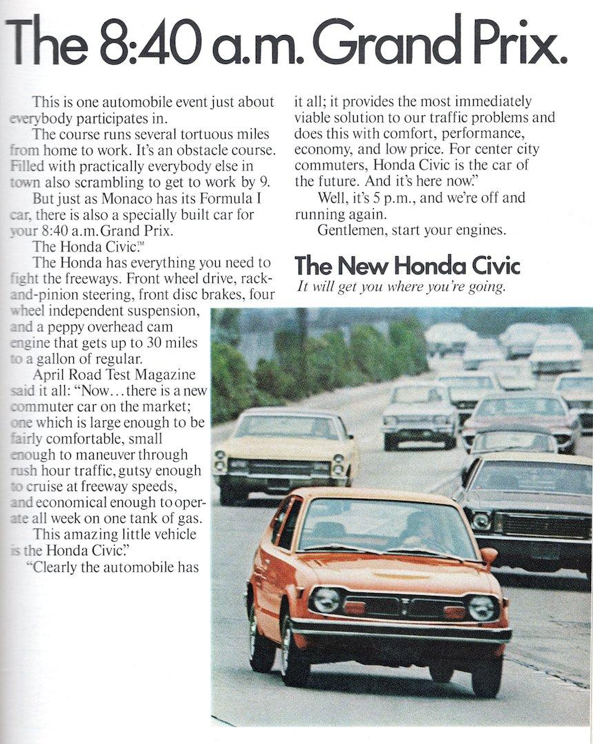 Honda Civic - 840 am Grand Prix 1973