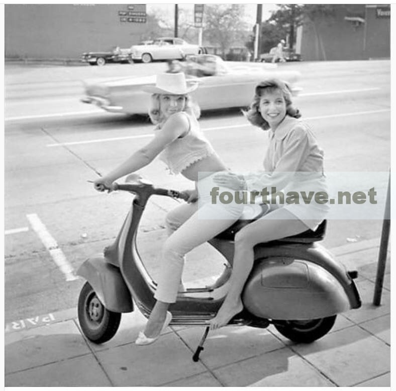 1950s scooter girls