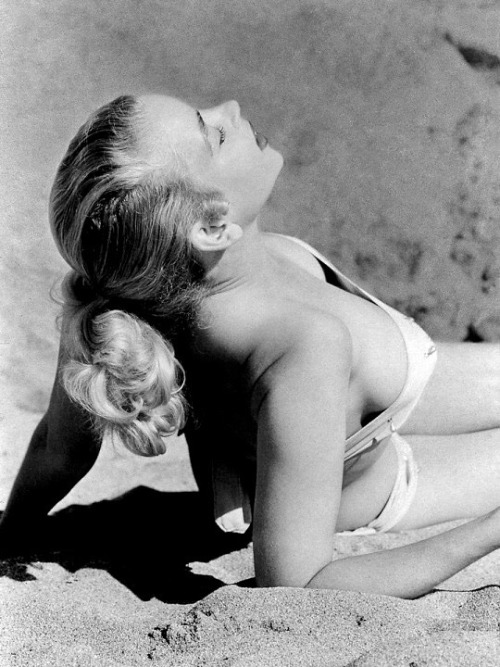 Eve Meyer photographed by Russ Meyer- 1955.
