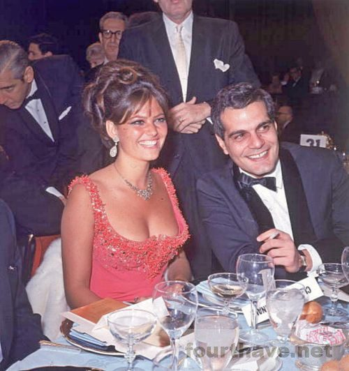 Claudia Cardinale at dinner
