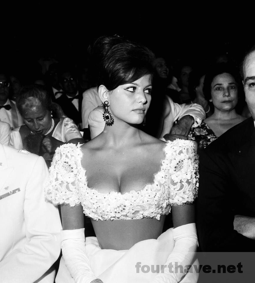 Claudia Cardinale in the audience