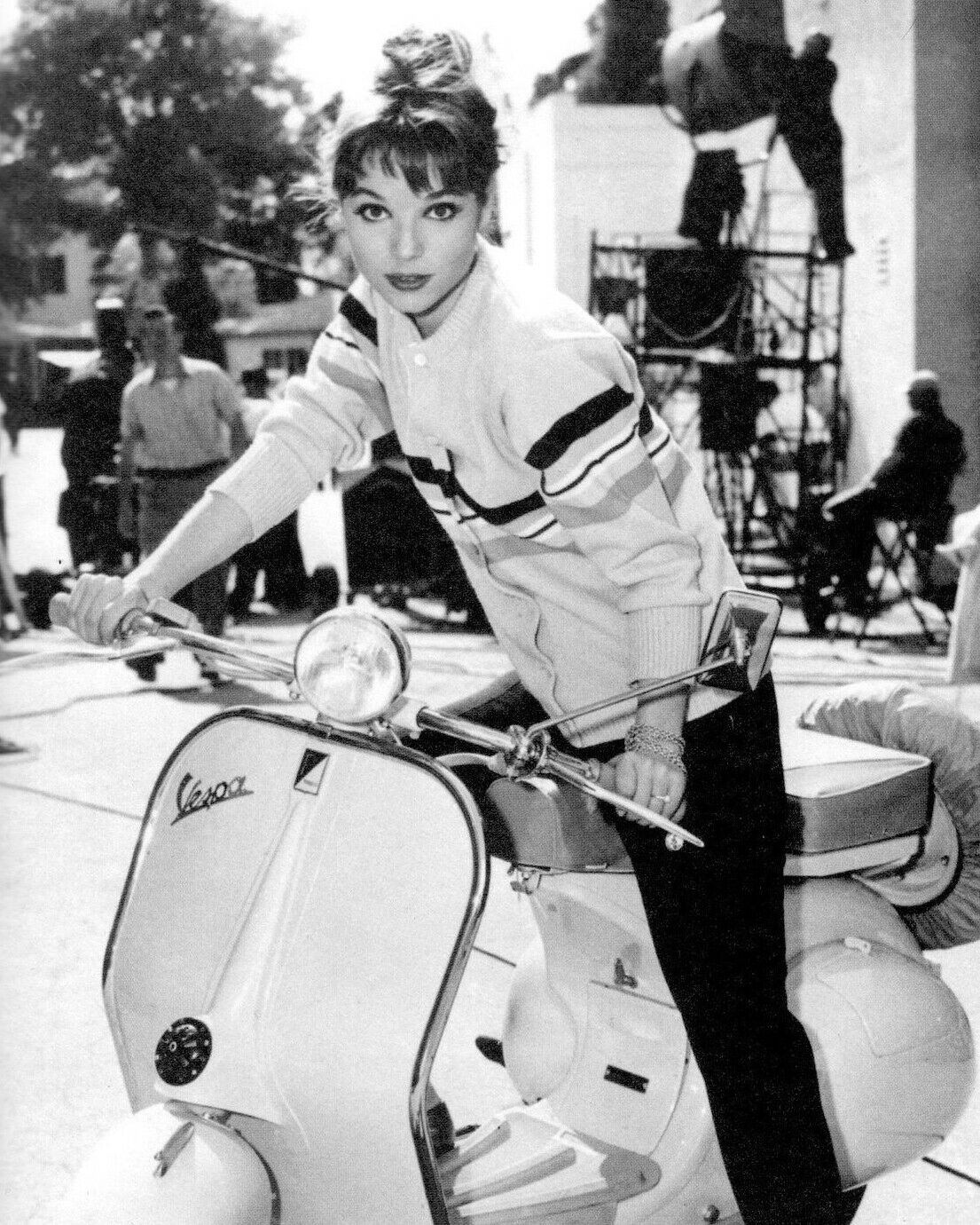 Elsa Martinelli on a Vespa 1960s