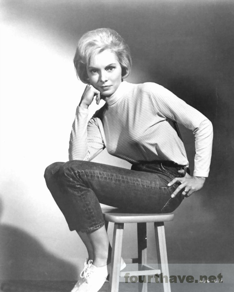 Janet Leigh seated