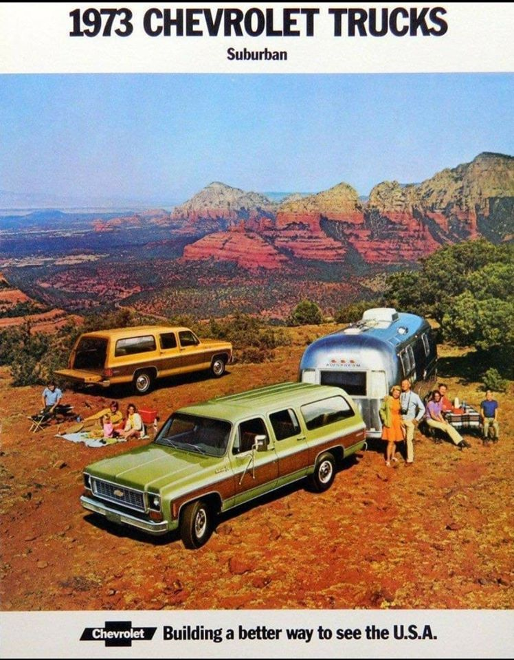 "1970s- still a big Suburban could have the ""earth colors"" typical of this decade!"
