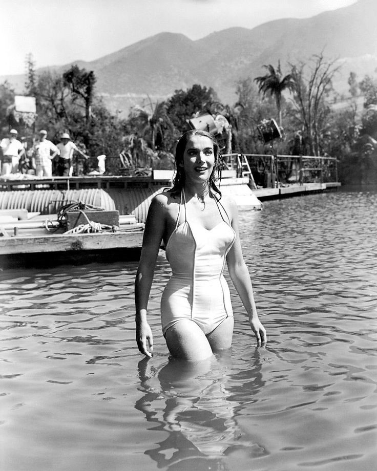 Julie Adams on the set of Creature from the Black Lagoon (1954)