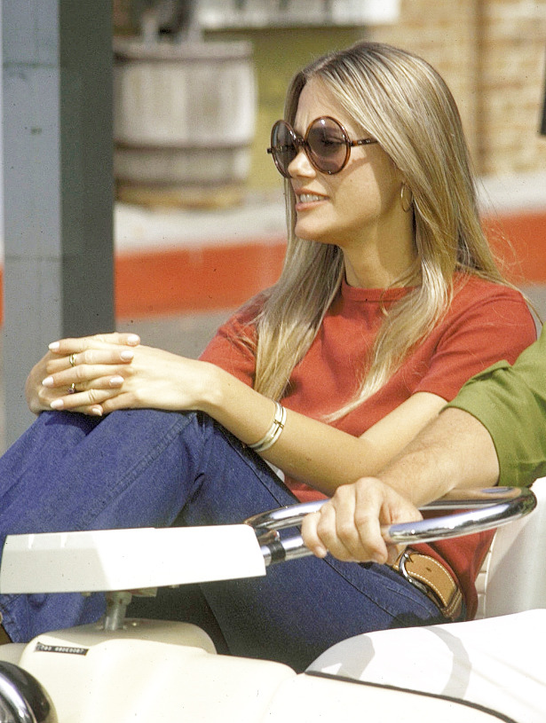 Peggy Lipton on the set of The Mod Squad, 1970