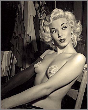 Misty Ayres, vintage Burlesque dancer, stripper