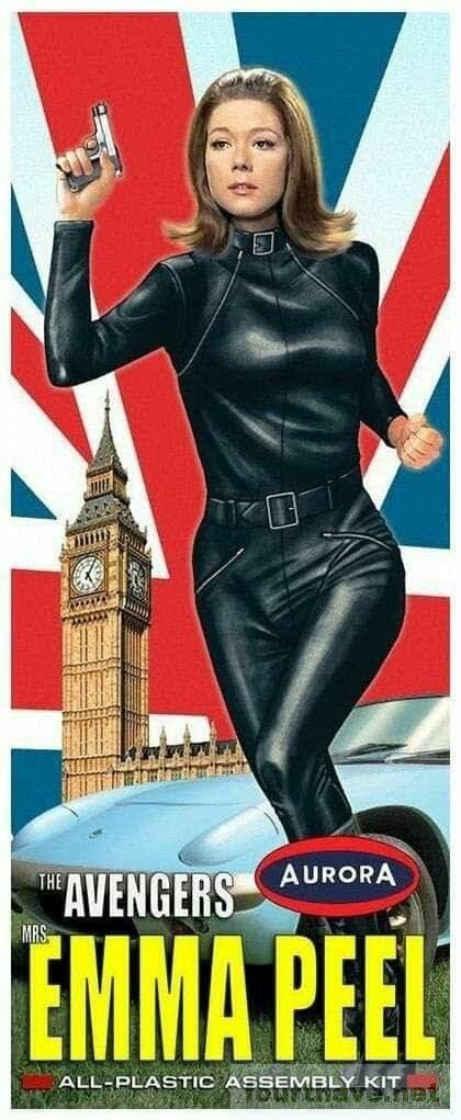 Diana Rigg - Emma Peel as a plastic kit
